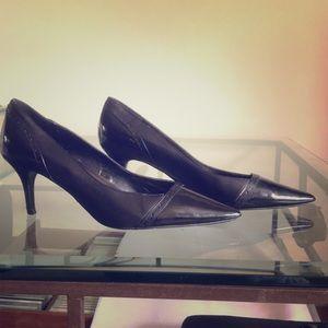 Black Paten and Regular leather heels